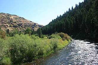 Minam River - Minam River near its confluence with the Wallowa River