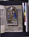 Miniature of the Annunciation with the Virgin reading a book (in a chemise binding?) (NYPL b12455533-425851).tif
