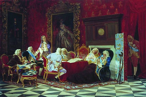 Artemy Volynsky - Volynsky addressing the ministers of Empress Anna