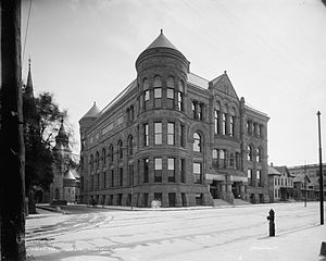 Hennepin County Library - The first central Minneapolis Public Library, early 1900s