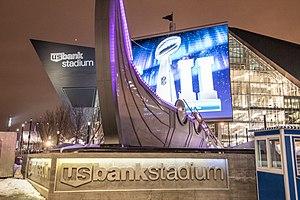 Minnesota Vikings Legacy Ship - U.S. Bank Stadium, Super Bowl LII (28153069309).jpg