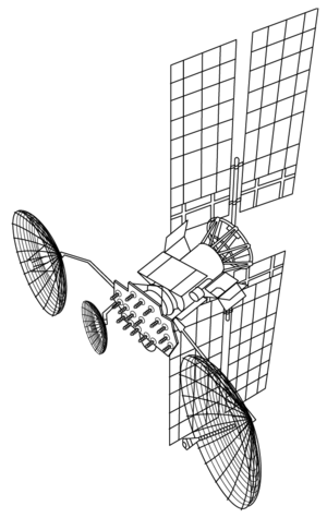 Luch (satellite) - A diagram of a Luch satellite.