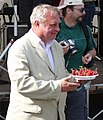 Miroslav Ransdorf with cherries, EP election campaign, Brno.jpg