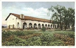 History of the San Fernando Valley - Mission San Fernando c. 1900