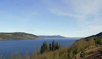 Mjøsa - View northwards from Minnesund, Eidsvoll