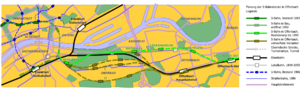 Offenbach City Tunnel - Planning options considered, the most northerly route was chosen