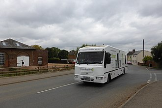 Bookmobile - Lincolnshire mobile library covering small villages in this English county.