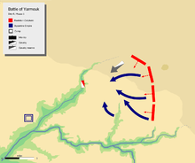 day 6 last phase, showing general retreat of Byzantine army towards waddi ul raqqad.