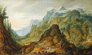 Rocky landscape (The caravan in a valley).