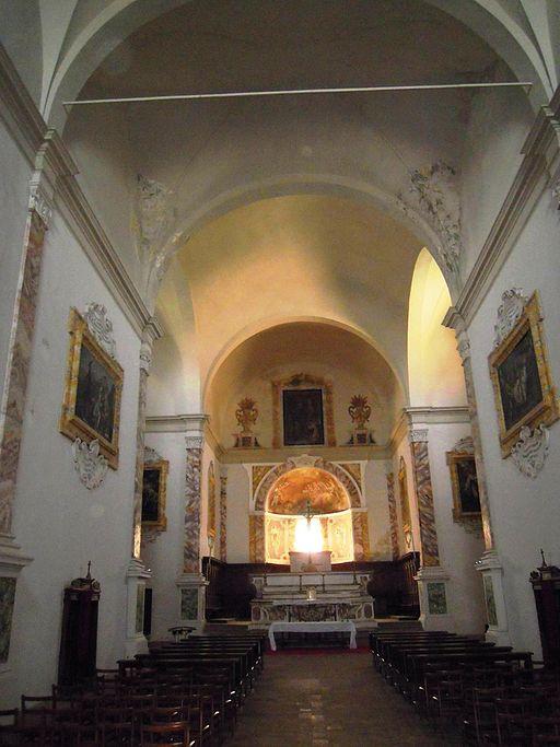 Monastero di Sant'Anna in Camprena, chiesa abbaziale, interno