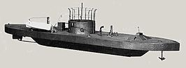 Model van de USS Monitor