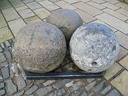 Mons Meg cannonballs, Edinburgh Castle Scotland
