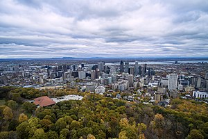 Montreal from above Mont Royal