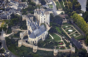 Château de Montreuil-Bellay - Aerial view of the Château de Montreuil-Bellay