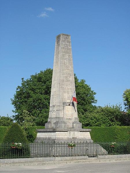 Monument to the battle of la Rothière 1st feb. 1814 (Aube, France).