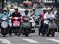 Motorcyclists at Intersection - Taipei - Taiwan (40895994313).jpg