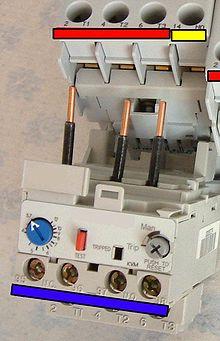 Магнитный пускатель с защитным тепловым реле.