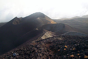 Cameroon line - Mount Cameroon craters left after the eruptions in 2000