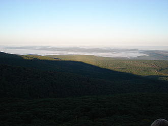 Arkansas Highway 309 - View facing northeast from atop Mount Magazine.