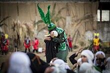 Szene aus einem Trauerschauspiel zu Aschura im Iran
