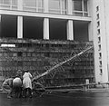 Moving a television antenna onto the Stadium Tower in Helsinki, 1956..jpg