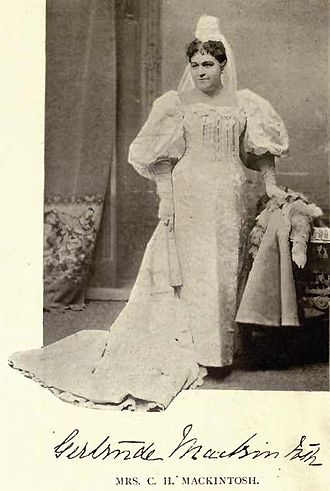 Charles Herbert Mackintosh - Gertrude Mackintosh by William James Topley in a costume she wore in February 1896 at a Fancy Dress Ball given at Ottawa by the Earl and Countess of Aberdeen