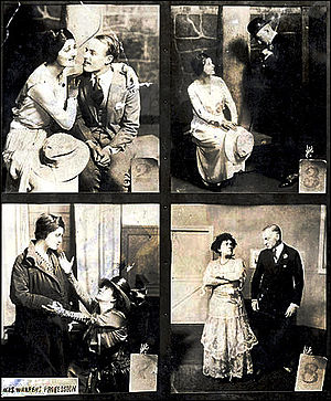 Mrs. Warren's Profession - Photographs from the 1918 production of Mrs. Warren's Profession, directed by and starring Mary Shaw (pictured in the two lower frames).