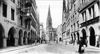 Münster - Photo of the Prinzipalmarkt in 1900