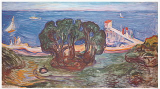 Trees by the Beach (The Linde Frieze)