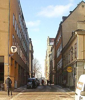 Munkbrogatan - Munkbrogatan in February 2007.