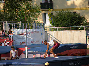 2010 World Junior Championships in Athletics - Mutaz Essa Barshim won Qatar's only gold in the men's high jump.