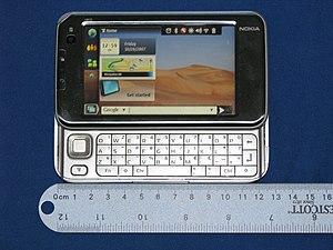Nokia N810 - Image: N810 open