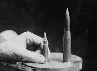13.2mm TuF - Image: NLS Haig Bullets from a German anti tank rifle and a British rifle, France, during World War I