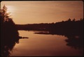 NORTH BRANCH OF THE MOOSE RIVER SEEN FROM THE BRIDGE AT THENDARA. SUNSET - NARA - 554404.tif
