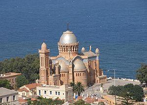 Pied-Noir - Notre Dame d'Afrique, a church built by the French Pieds-Noirs in Algeria