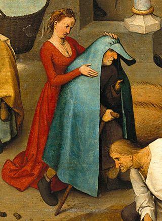 Nederlandish Proverbs by Pieter Bruegel the Elder, detail