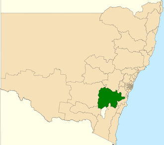 Electoral district of Goulburn - Location in New South Wales