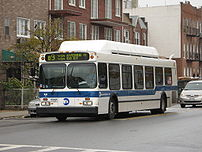 NYCTA New Flyer C40LF bus 840 in Brooklyn, New...