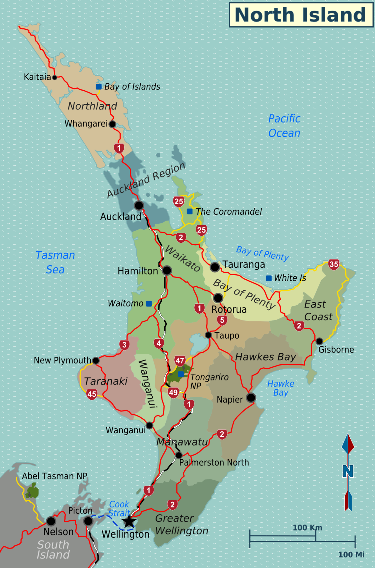 Cities North Island Nz