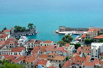 Nafpaktos - Nafpaktos; view from the fortress.