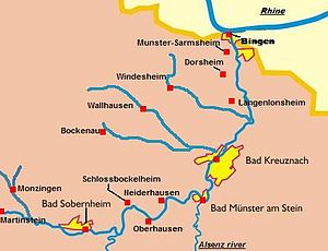 Nahe (wine region) - Nahe wine regions