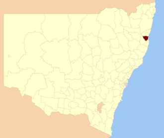 Nambucca Shire - Location in New South Wales