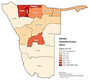 Namibia Population Density (2011)