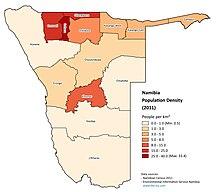 Namibia-Demographics-Namibia Population Density (2011)