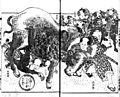 Nansō Satomi Hakkenden - Rampaging cattle BW.jpg