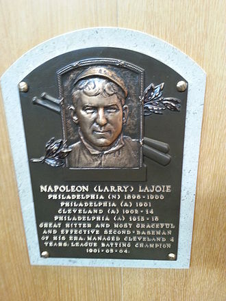 Nap Lajoie - Nap Lajoie's plaque at the National Baseball Hall of Fame and Museum