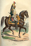 Napoleon Empress dragoon by Bellange