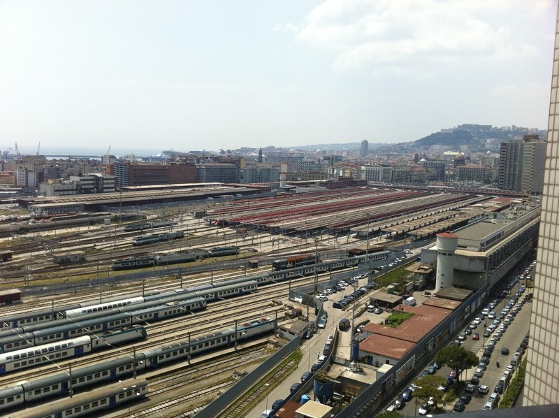 Napoli Centrale railway station (aerial view)