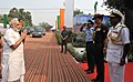 Narendra Modi arrives at 'Shauryanjali', a commemorative exhibition on Golden Jubilee of 1965 war, at India Gate, in New Delhi. The Chief of the Air Staff, Air Chief Marshal Arup Raha and the Chief of Army Staff.jpg