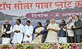 Narendra Modi inaugurating the Rooftop Solar Power Plant (180 KW) for Khunti District Court, in Jharkhand. The Governor of Jharkhand, Smt. Draupadi Murmu, the Chief Minister of Jharkhand, Shri Raghubar Das.jpg
